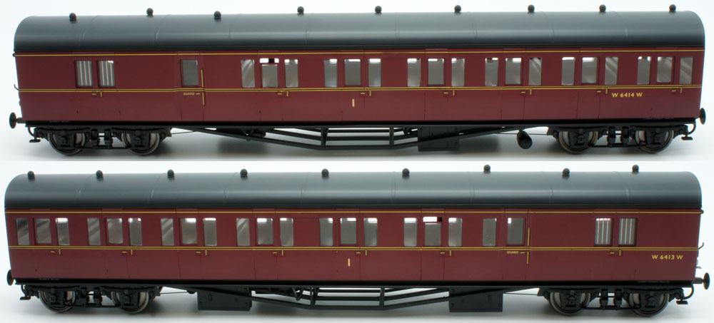 Lionheart Trains O Gauge BR(W) Cardiff Division Set 41 Two Coach Set BR Maroon LHT-607