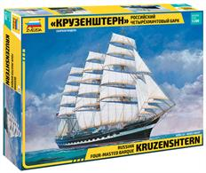 Zvezda 1/200 Russian Four-Masted Barque KruzenshternNumber of Parts 474Length 57.5cm