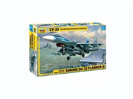 Zvezda 7297 1/72nd Russian Naval Fighter Su-33 Flanker-D Plastic KitNumber of Parts 247   Length 300mm