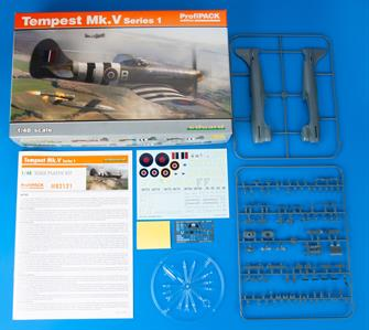 82121 ProfiPACK edition kit of British WWII fighter aircraft the Hawker Tempest Mk.V in 1/48 scale.