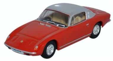 Oxford Diecast 1/76 Lotus Elan Plus2 Red/Silver 76LE003