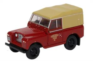 Oxford Diecast 1/76 Land Rover Series II SWB Canvas British Rail76LR2S002