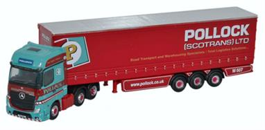 Oxford Diecast 1/148 Mercedes Actros Curtainside Pollock NMB002Mercedes Actros Curtainside Pollock