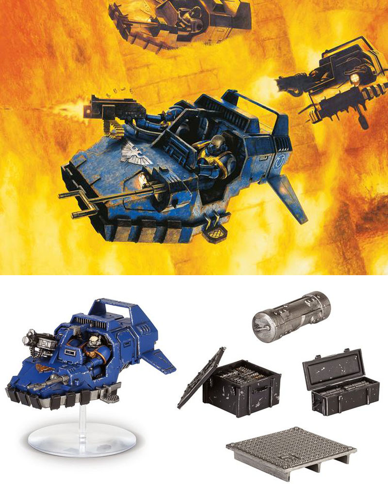 Warhammer 40000 Space Marine Speeder Strike Build & Paint Series 1