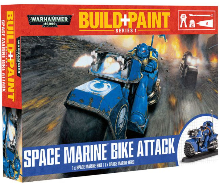 Warhammer 40000 Space Marine Bike Attack Build & Paint Series 1