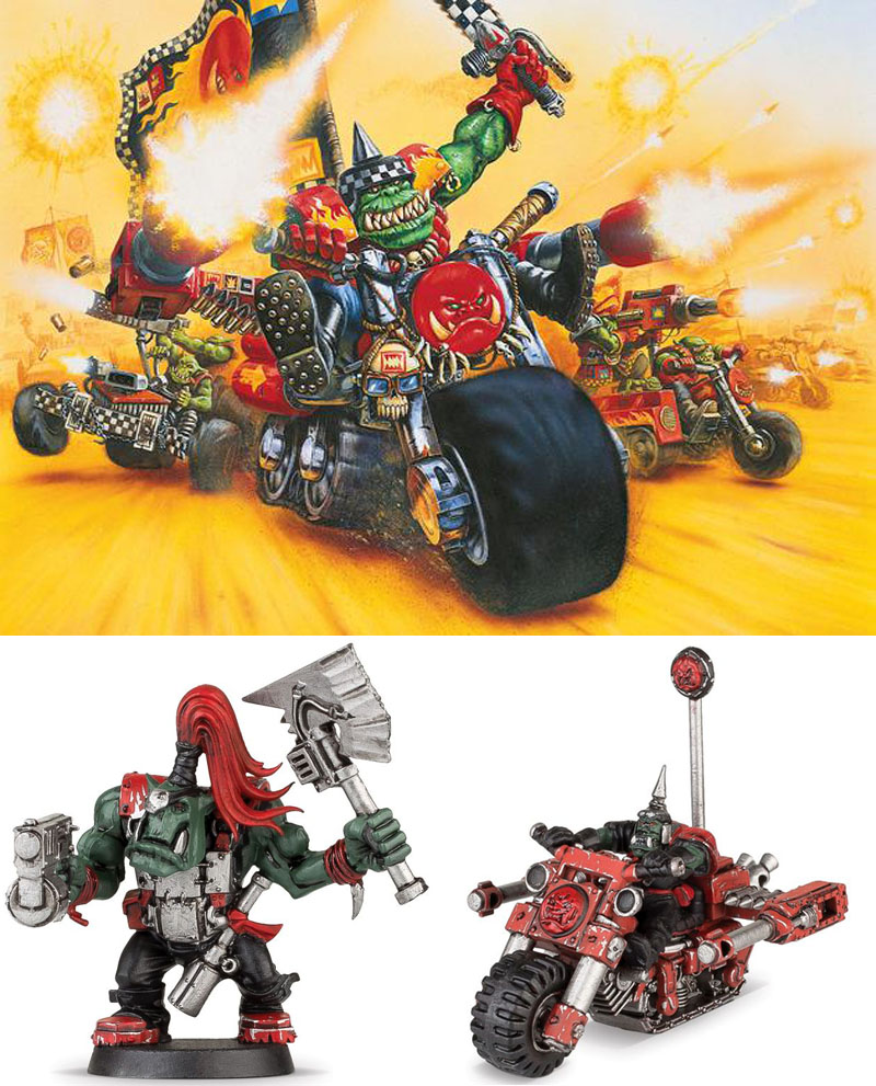 Warhammer 40000 Space Ork Blastabike Build & Paint Series 1