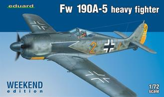 Eduard 1/72 Focke Wulf FW190 190A-5 Weekend 7436Glue and paints are required to assemble and complete the model (not included)Click on the More link to view related products.