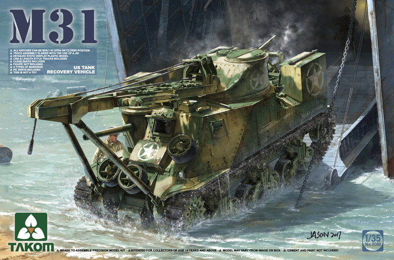 Takom 1/35 US M31 Tank Recovery Vehicle Kit 2088