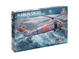 Italeri 2712 1/48th Scale H-34G III UH34J helicopterIncludes: Plastic sprues, Photoetch, Vinyl, Waterslide decals, Clear parts