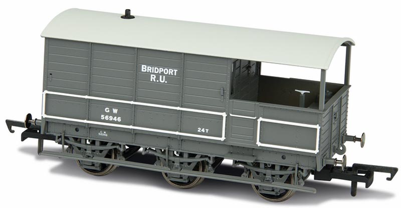 Oxford Rail OO GWR Toad Brake Van GWR 6 Wheel Plated Sides ...