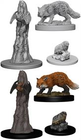 Wizkids Familiars: Pathfinder Deep Cuts Unpainted MiniaturesContains three unpainted figures (one each of three different moulds).