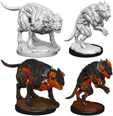Wizkids Hell Hounds: Pathfinder Deep Cuts Unpainted Miniatures 72581Contains two unpainted figures (one each of two different moulds).