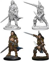 Wizkids Human Male Fighter: Pathfinder Deep Cuts Unpainted Miniatures 72596Contains two unpainted figures (one each of two different moulds).
