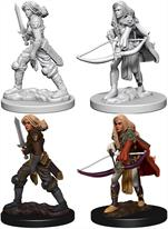 Wizkids Human Female Fighter: Pathfinder Deep Cuts Unpainted Miniatures 72597Contains two unpainted figures (one each of two different moulds).