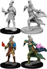 Wizkids Elf Female Sorcerer: Pathfinder Deep Cuts Unpainted Miniatures 72606Contains two unpainted figures (one each of two different moulds).