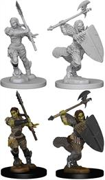 Wizkids Half-Orc Female Barbarian: Pathfinder Deep Cuts Unpainted Miniatures 72614Contains two unpainted figures (one each of two different moulds).
