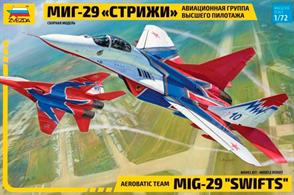 Zvezda 7310 1/72nd MIG-29 Swifts Aerobatic TeamNumber of Parts 190  Length 240mm