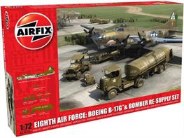 Airfix A12010 1/72nd Eight Air Force Resupply Set with Flying Fortress B17G
