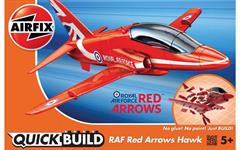 Airfix's J6018 a Quickbuild block construction of the Great Red Arrows Hawk trainer aircraft