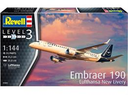 Revell 03883 1/144th Embraer 190 Lufthansa New Livery Airliner Kit