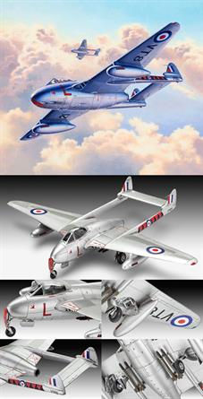 Revell 1/72 Vampire F Mk.3 03934Length 133mmNumber of Parts 58Wingspan 168mm
