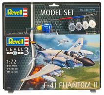 Revell 1/72 F-4J Phantom US Navy Gift Set 63941Length 245mmNumber of Parts 85Wingspan 164mm
