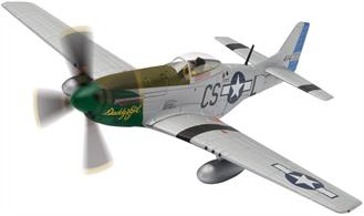 We've put a special price on this very nice quality die-cast model of the Corgi 1/72 Mustang P-51D Daddy's Girl! The detailing and paintwork is just superb and production was limited to 1100. A pretty version of the aircraft that was able to work successfully at very long range.