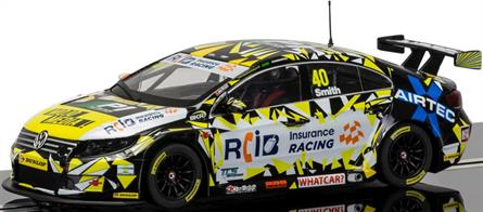 Scalextric 1/32 BTCC VW Passat CC Aron Smith Slot Car Model C3864Scalextric 1/32 BTCC VW Passat CC, Aron Smith C3864