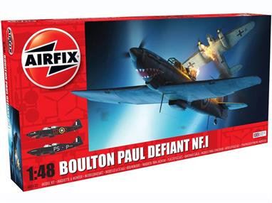Airfix A05132 1/48th Boulton Paul Defiant NF.1 Night Fighter KitLength 225mm  Number of Parts 158  Wingspan 250mm
