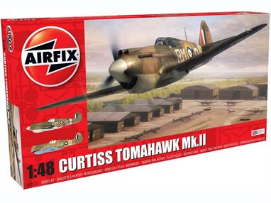 Airfix A05133 1/48th Curtiss Tomahawk MKIIB WW2 Fighter Aircraft KitNumber of Parts 106  Length 202mm  Wingspan 237mm