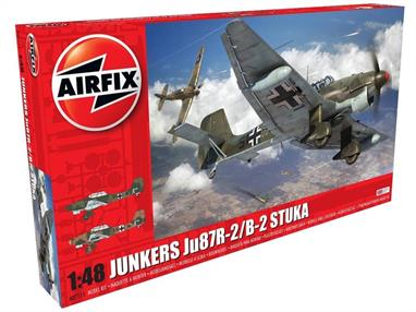 Airfix A07115 1/48th Junkers Ju 87B-2/R-2 Stuka Dive Bomber KitNumber of Parts 158   Length 229mm  Wingspan 288mm