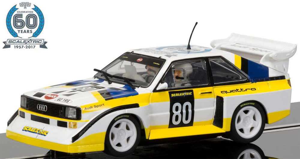Scalextric 1/32 Scalextric 60th Anniversary Collection Car No.4 - 1980s, Audi Sport Quattro S1 E2 C3828A