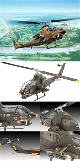 Revell 1/72 Bell AH-1G Cobra Kit 04956Length 190mmNumber of Parts 150Rotor Diameter 188mmGlue and paints are required