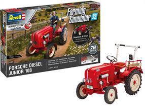 Revell 1/24 Porsche Junior 108 Tractor 07820Length 107mm    Number of Parts 76