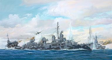 Revell 1/144 Fletcher Class Destroyer Kit Platinum Edition 05150Length 797mm Number of Parts 1000Glue and paints are required to assemble and complete the model (not included)