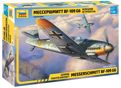 Zvezda 4816 1/48th Messerschmitt Bf-109 G6 WW2 Fighter kitNumber of Parts 233  Length 188mm