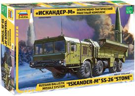 Zvezda 5028 1/72 Scale Russian Iskander-M Ballistic Missile LauncherDimensions - Length 183mm.The kit contains over 240 parts and includes full instructionsGlue and paints are required