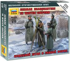Zvezda 1/72 German Headquarters in Winter Uniform 6232