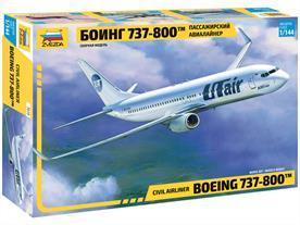 Zvezda 7019 1/144th Boeing 737-800 Airliner Kit 7019Number of Parts 109  Length 274mm