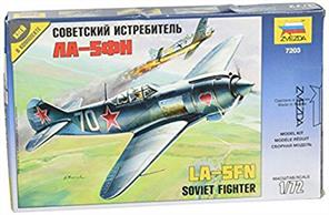 Zvezda 7203 1/72nd Scale Lavotchkin LA-5 FN Soviet WW2 FighterNumber of Parts 42   Length 115mm