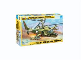 Zvezda 7216 1/72nd Russian Black Shark Hokum Attack Helicopter Plastic KitNumber of Parts 145   Length 21mm