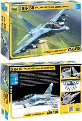 Zvezda 7307 1/72nd Russian YAK-130 Kit Number of Parts 176 Length 160mm