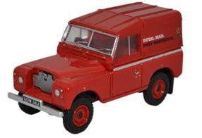 Oxford Diecast 1/76 Land Rover Series IIA SWB Hard Top Royal Mail (PO Recovery) 76LR2AS001