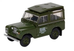Oxford Diecast 1/76 Land Rover Series II SWB Hard Top Post Office Telephones 76LR2S003