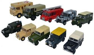Oxford Diecast 1/76 10 Piece Land Rover Military Set 76SET57