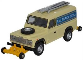 Oxford Rail 1/76 Railtrack Defender 90 Station Wagon OR76ROR001
