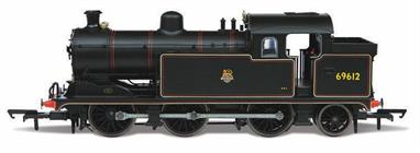 Oxford Rail model of British Railways ex-LNER N7 class 0-6-2 suburban passenger tank engine number 69612 finished in lined black livery with early lion over wheel emblem.
