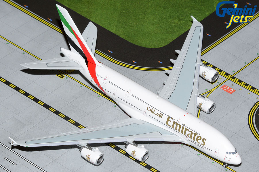 Gemini Jets 1/400 Airbus A380-800 Emirates Wildlife No.3 A6-EEQ Airliner Model GJUAE1594