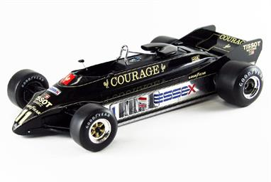 EBBRO E010 1/20 1981 Team Lotus Type 88 B F1 Racing Car - Courage LiveryThis kit builds into a nicely detailed model of the distinctive Lotus Type 88 Racing Car.