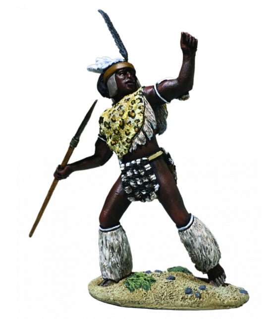 WBritain 1/30 Zulu uThulwana Regiment Throwing Spear Zulu Wars Figure 20178<br>Zulu uThulwana Regiment Throwing Spear